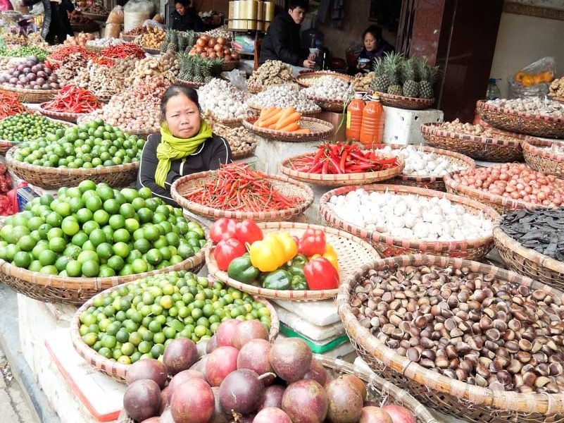 Visite d'une marché local lors de notre tour du monde dans notre page Notre tour du monde 2014-2015 de notre blog voyage S'offrir le monde