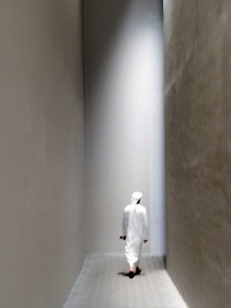 Corridor vers Rain Room à Sharjah