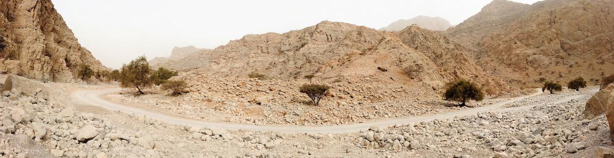 Un Wadi est le lit d'une rivière asséchée