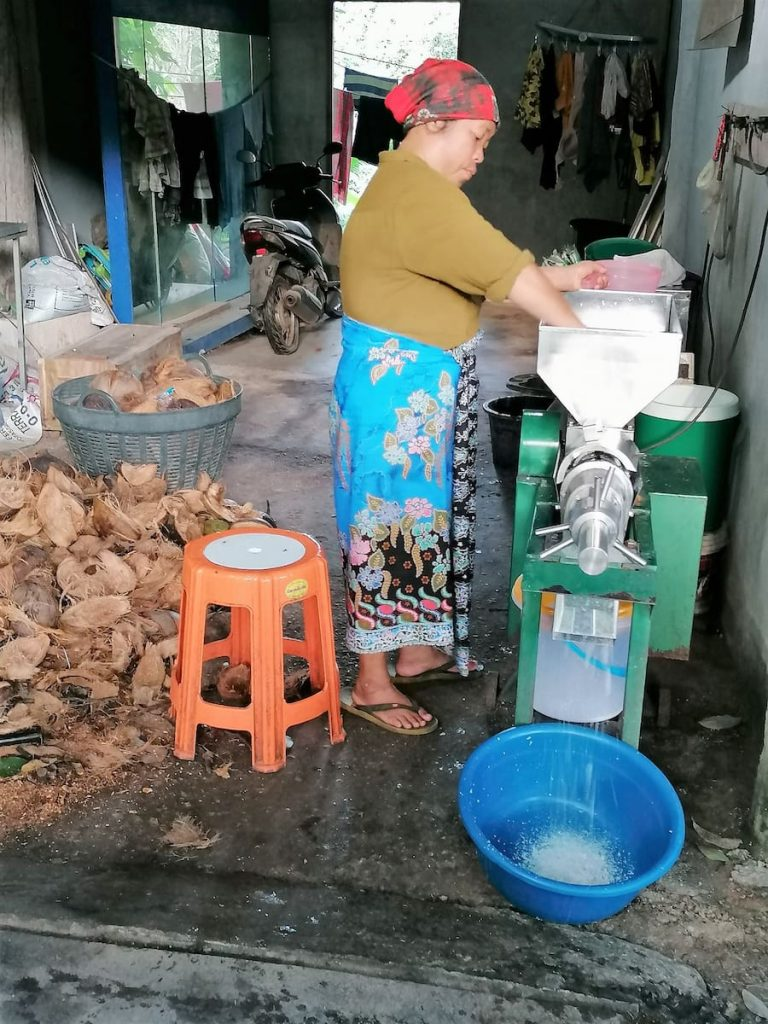 Coco râpée, pulpe de coco et lait de coco